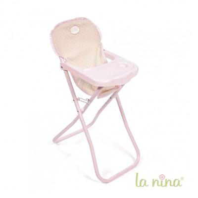 chaise haute pour poup e 30 cm in s la nina le lutin rouge. Black Bedroom Furniture Sets. Home Design Ideas