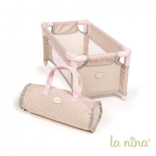 Lit pliant pour poupée de 30-52 cm Inès - Jeux et jouets La Nina ... 47a0aad4ca23