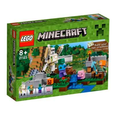 Lego 21123 minecraft le golem de fer jeux et jouets - Minecraft golem de fer ...