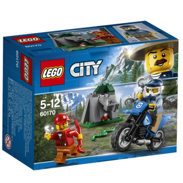 Lego 60170 city la poursuite en moto tout terrain - Jeux de motos de police ...