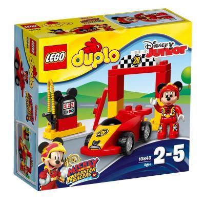 lego 10843 duplo disney junior la voiture de course de mickey jeux et jouets lego. Black Bedroom Furniture Sets. Home Design Ideas