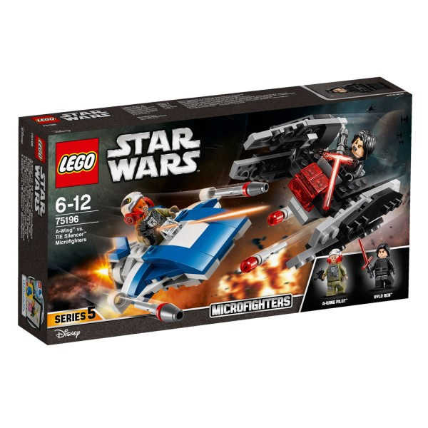 LEGO® 75196 Star Wars™: Microfighter A-Wing™ vs. Silencer TIE™ - Lego-75196