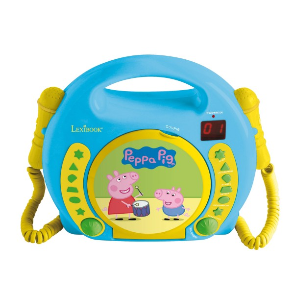 Lecteur cd karaok avec 2 micros peppa pig jeux et jouets lexibook avenue des jeux - Fusee peppa pig ...