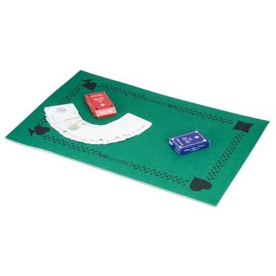Ensemble tapis avec 2 jeux de 54 cartes jeux et jouets lgri avenue des jeux Tapis de jeux de carte