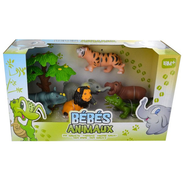 Figurines Bébés Animaux : La Jungle - LGRI-TM7844-3