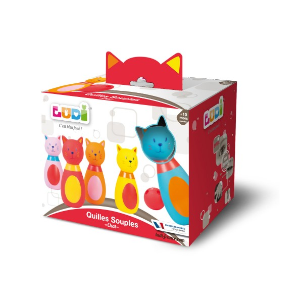 jeu de quilles souples chat jeux et jouets ludi avenue des jeux. Black Bedroom Furniture Sets. Home Design Ideas
