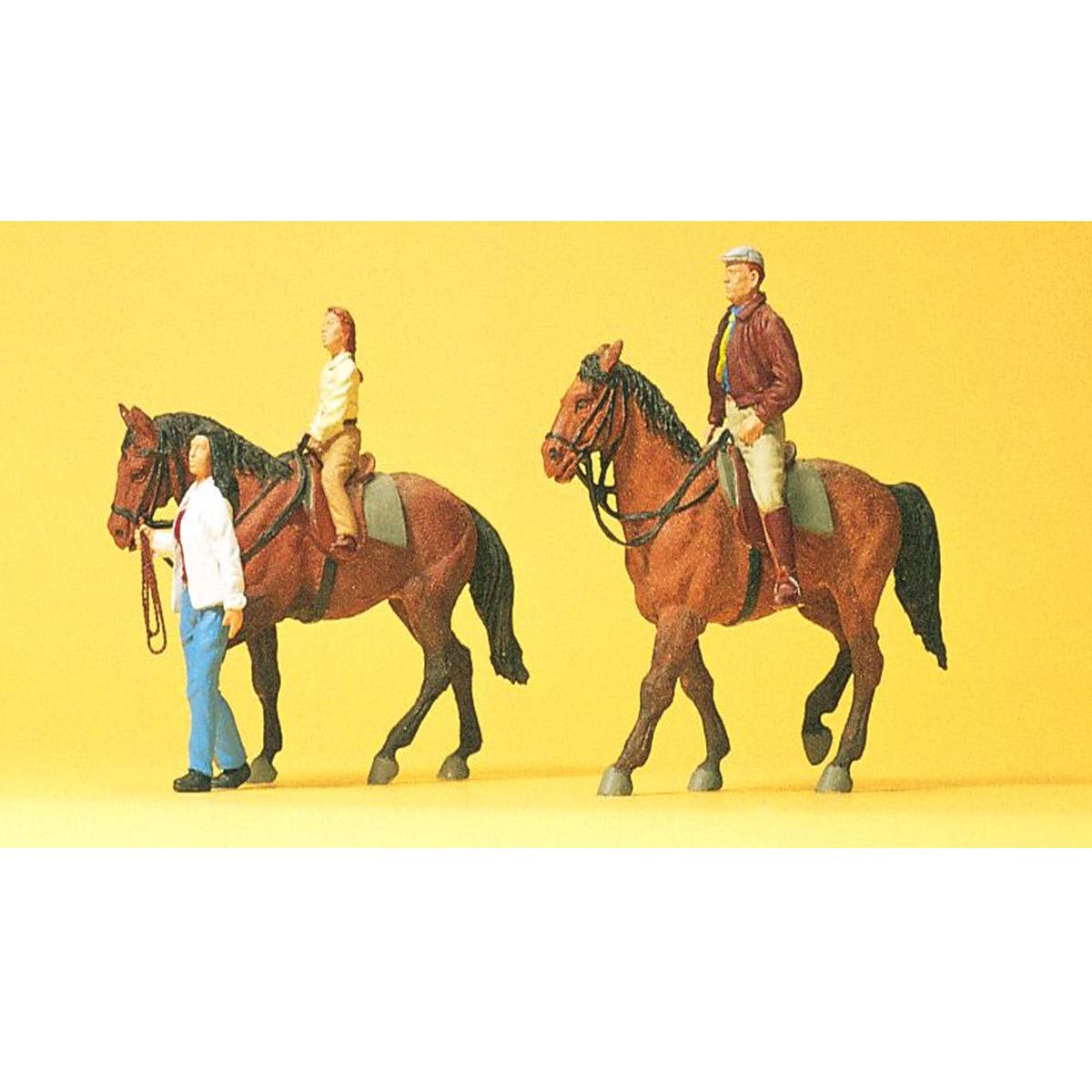 mod lisme ho figurines chevaux et cavaliers preiser. Black Bedroom Furniture Sets. Home Design Ideas