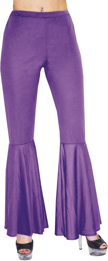 Pantalon à Patte d?Éléphant - Hippie / Disco - Violet - Femme