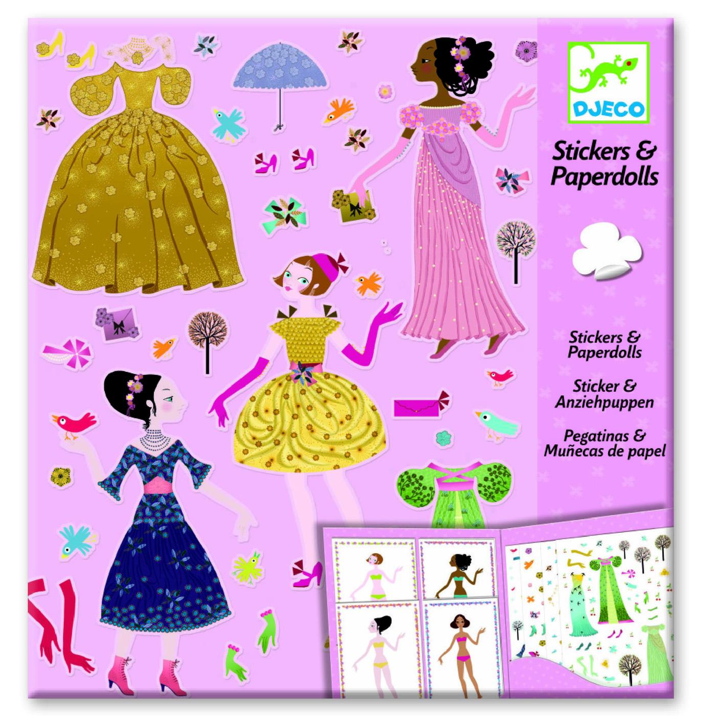Stickers et Paper dolls : Robes des 4 saisons