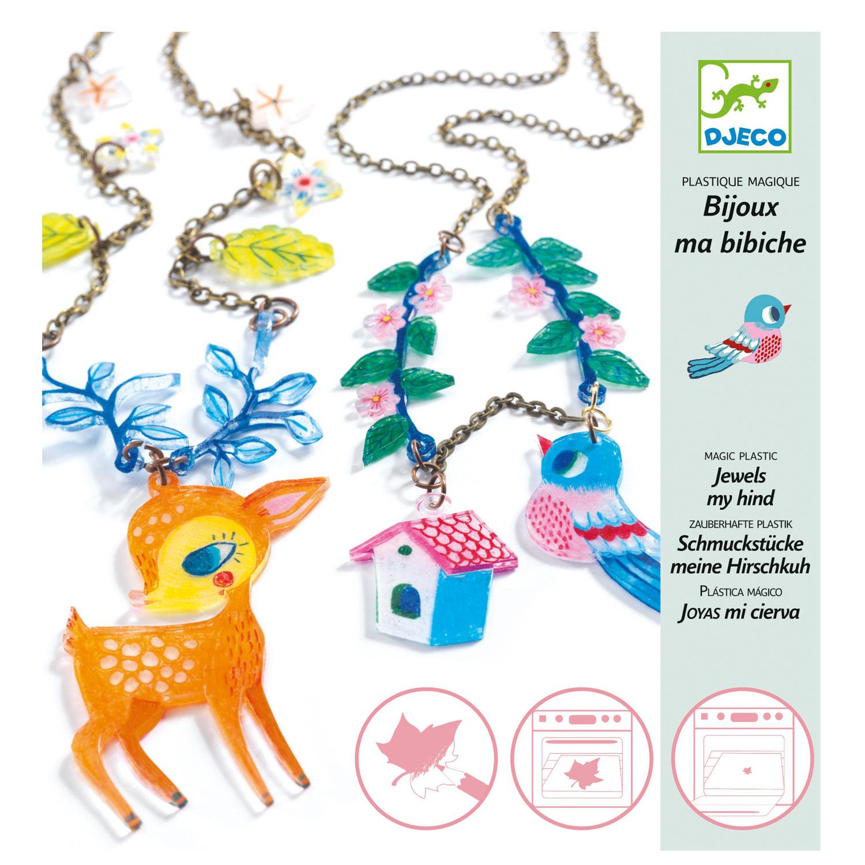 Création de bijoux en plastique magique : Le Faon et l'Oiseau