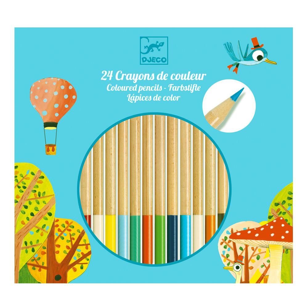 Crayons de couleur : 24 crayons