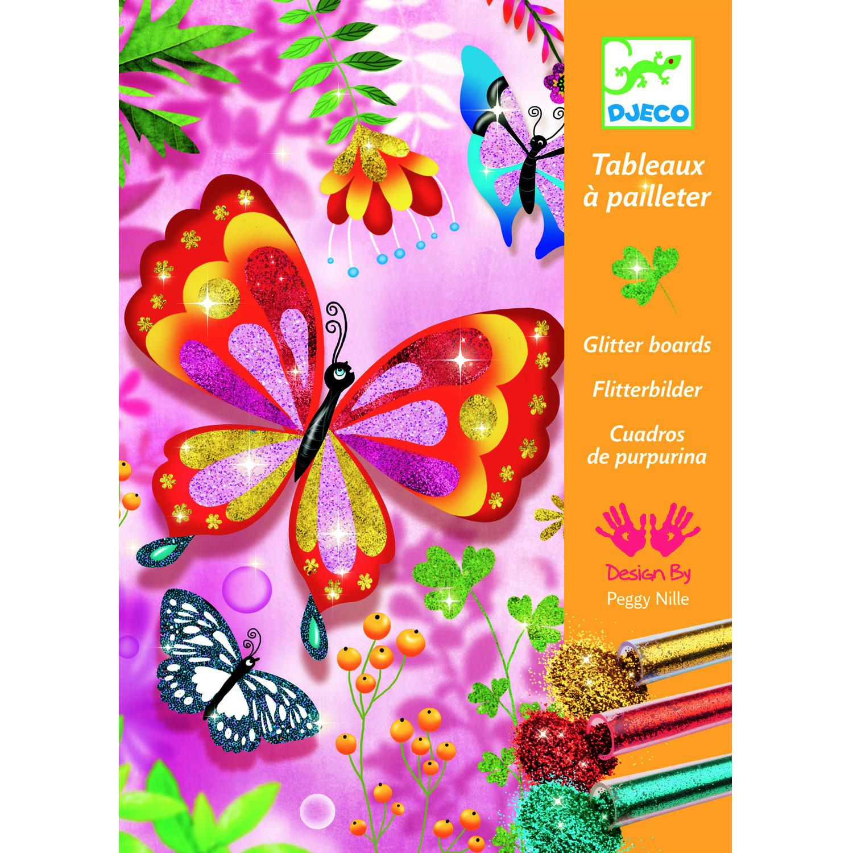 Tableaux à pailleter : Papillons à paillettes