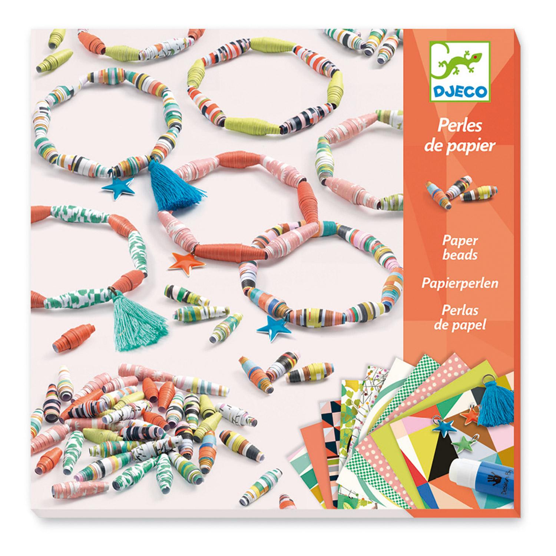 Set perles de papier : Bracelets de printemps