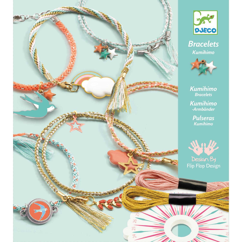 Coffret créatif bracelets Kumihimo : Céleste