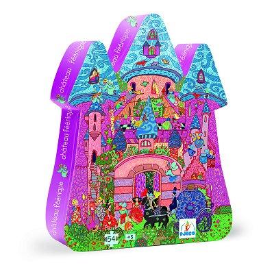 Puzzle 54 pièces - Silhouette - Château féerique