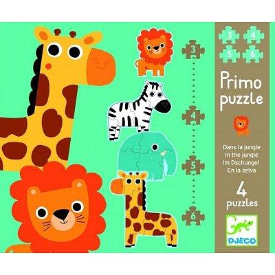 Puzzle 18 pièces - 4 puzzles : Dans la jungle