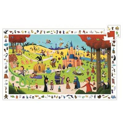 Puzzle 54 pièces - Poster et jeu d'observation : Les contes