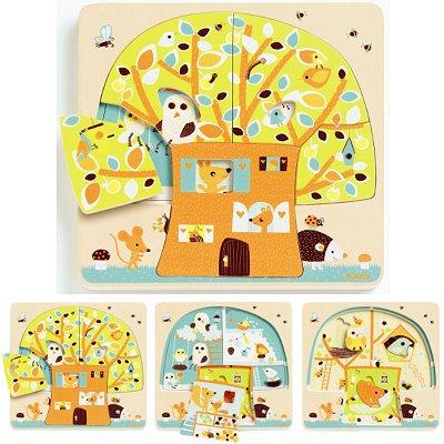 Puzzle - 3 niveaux - Cabane dans les arbres