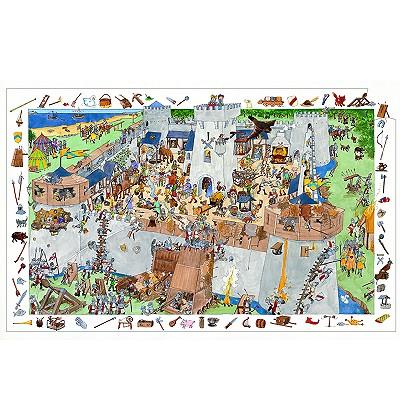 Puzzle 100 pièces - Poster et jeu d'observation : Château fort