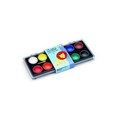 Peinture 12 pastilles gouache classique