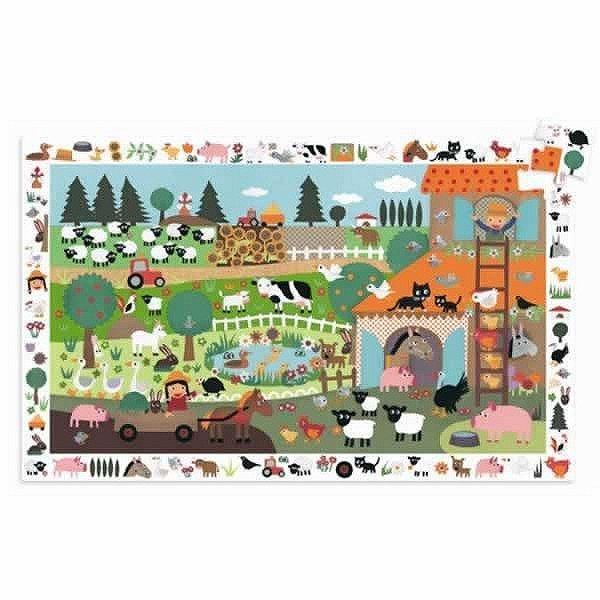 Puzzle 35 pièces - Puzzle observation : La ferme