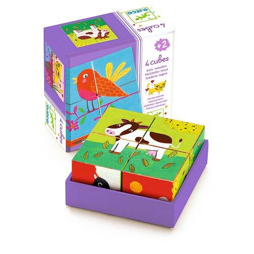 Puzzle 4 cubes : Ferme colorée