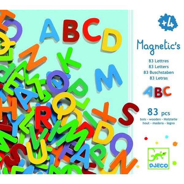 Lettres en bois magnétiques