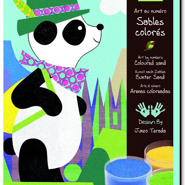 Sables colorés : Panda et ses copains