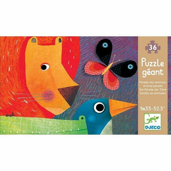 Puzzle 36 pièces géant - La parade des animaux
