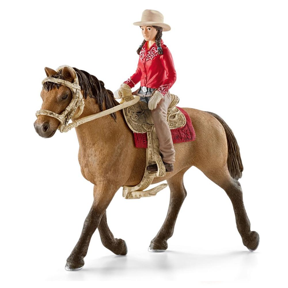 Figurine Cavaliere Western Avec Cheval Jeux Et Jouets Schleich
