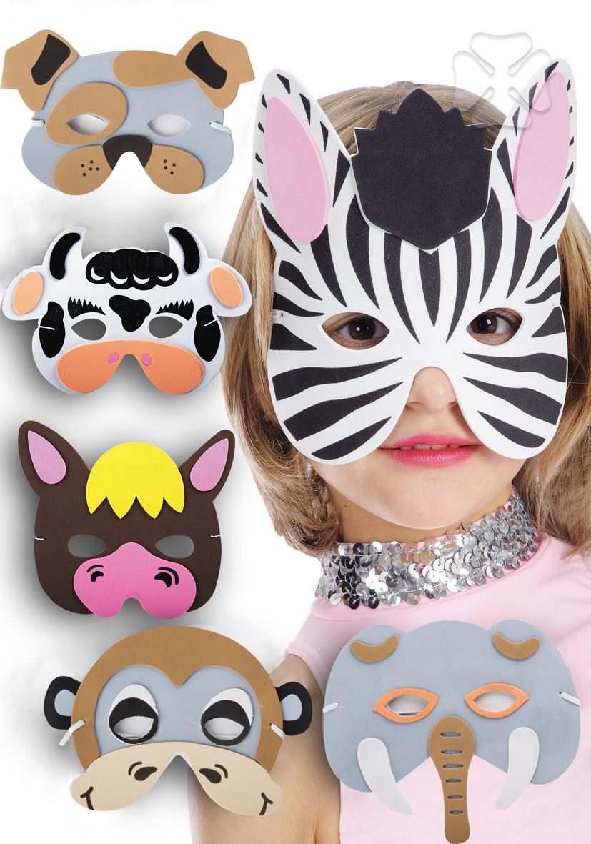Masque Animaux en Mousse - Enfant