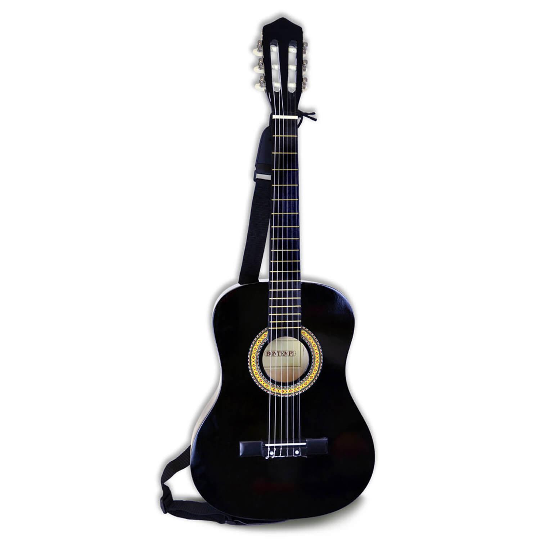 Guitare classique noire en bois 93 cm