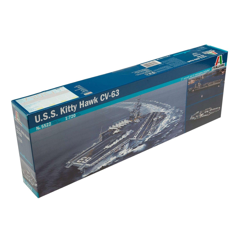 maquette bateau   porte-avions uss kitty hawk cv-63 - maquette italeri