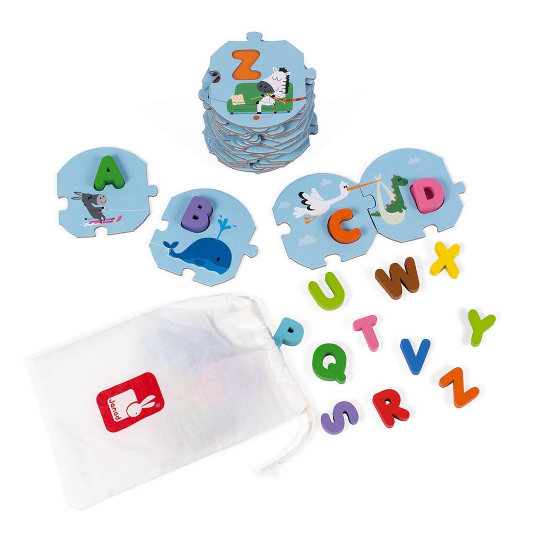 Puzzle 28 pièces : J'apprends l'alphabet
