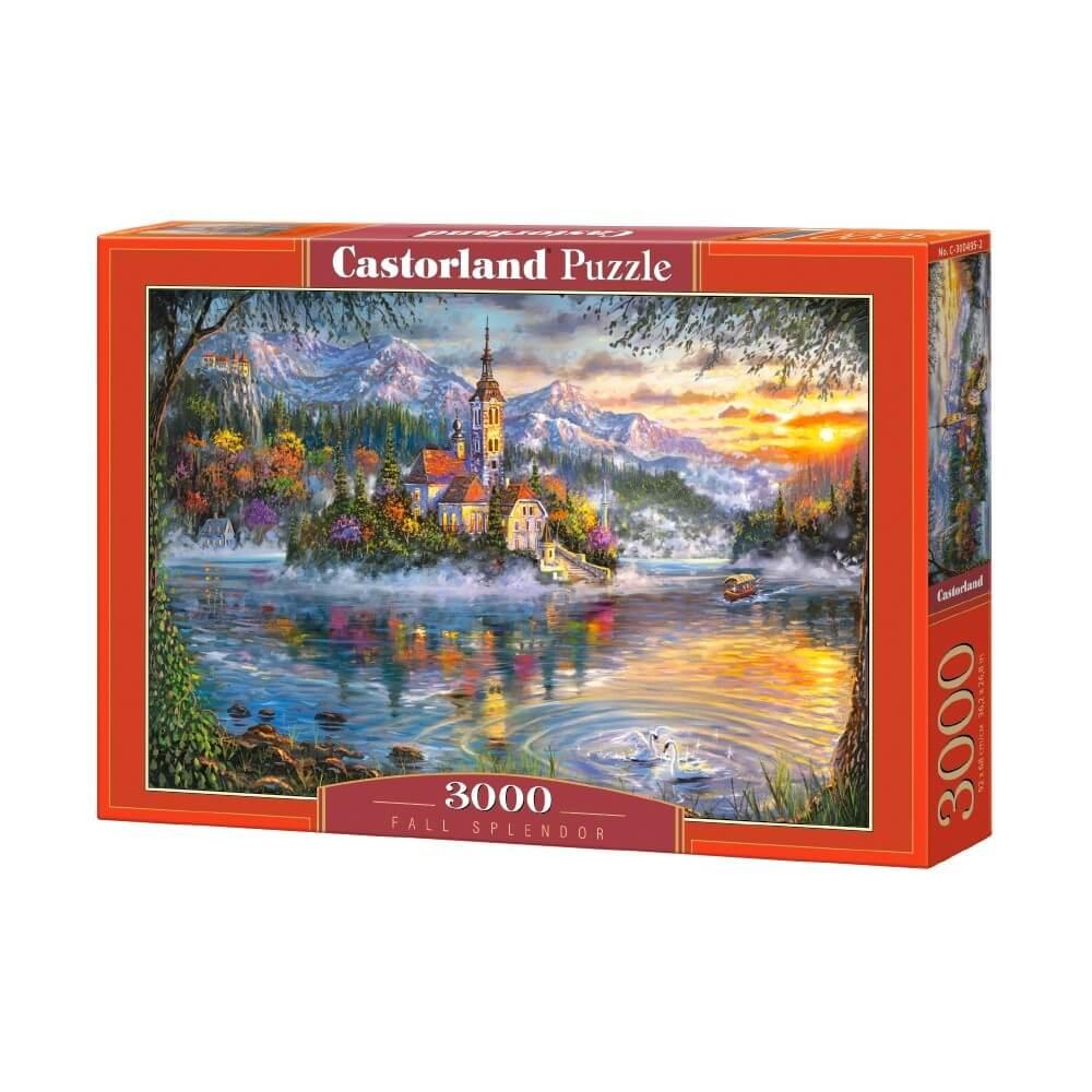 Puzzle 3000 pièces Le lever du jour sur le port