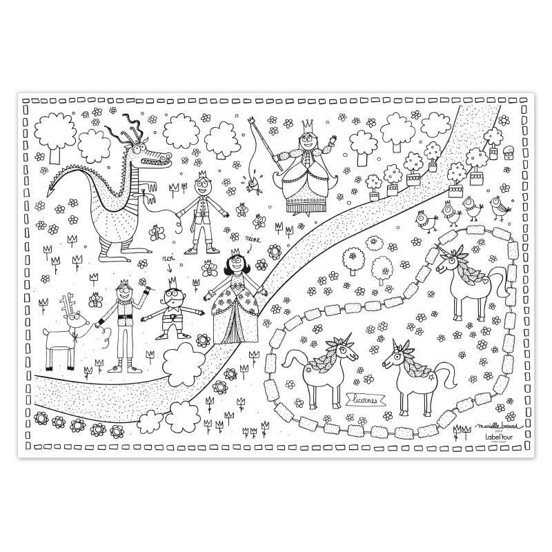 Coloriage Table Princesse.Carnet De 24 Sets De Table A Colorier Princesse Jeux Et Jouets