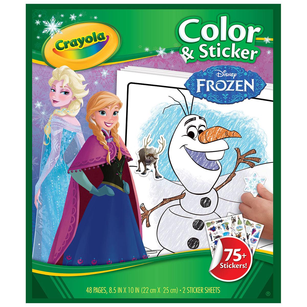 Coloriages + Stickers : La Reine des Neiges (Frozen)