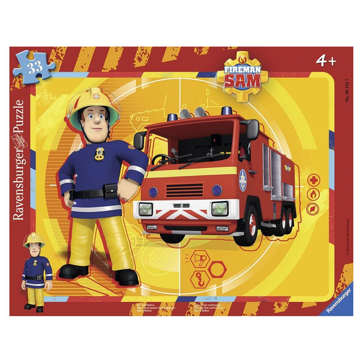 Puzzle 33 pièces : Sam le pompier et son camion