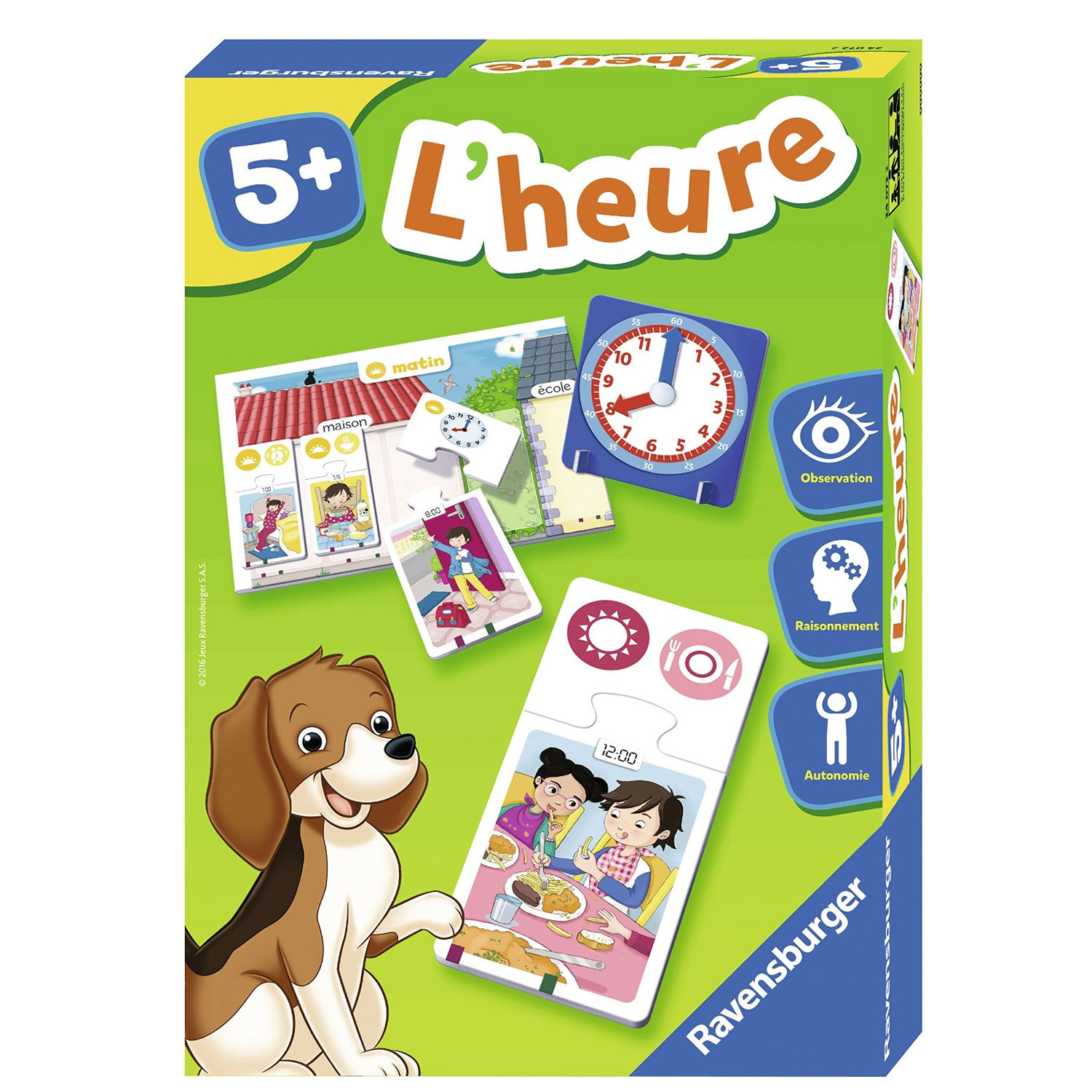 Puzzle duo : L'heure