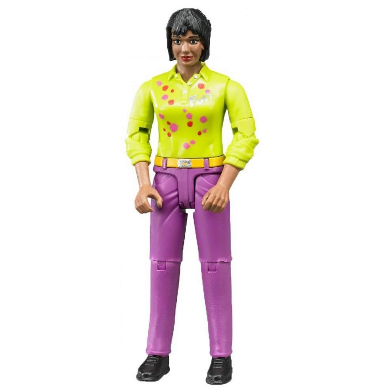Femme avec jean rose