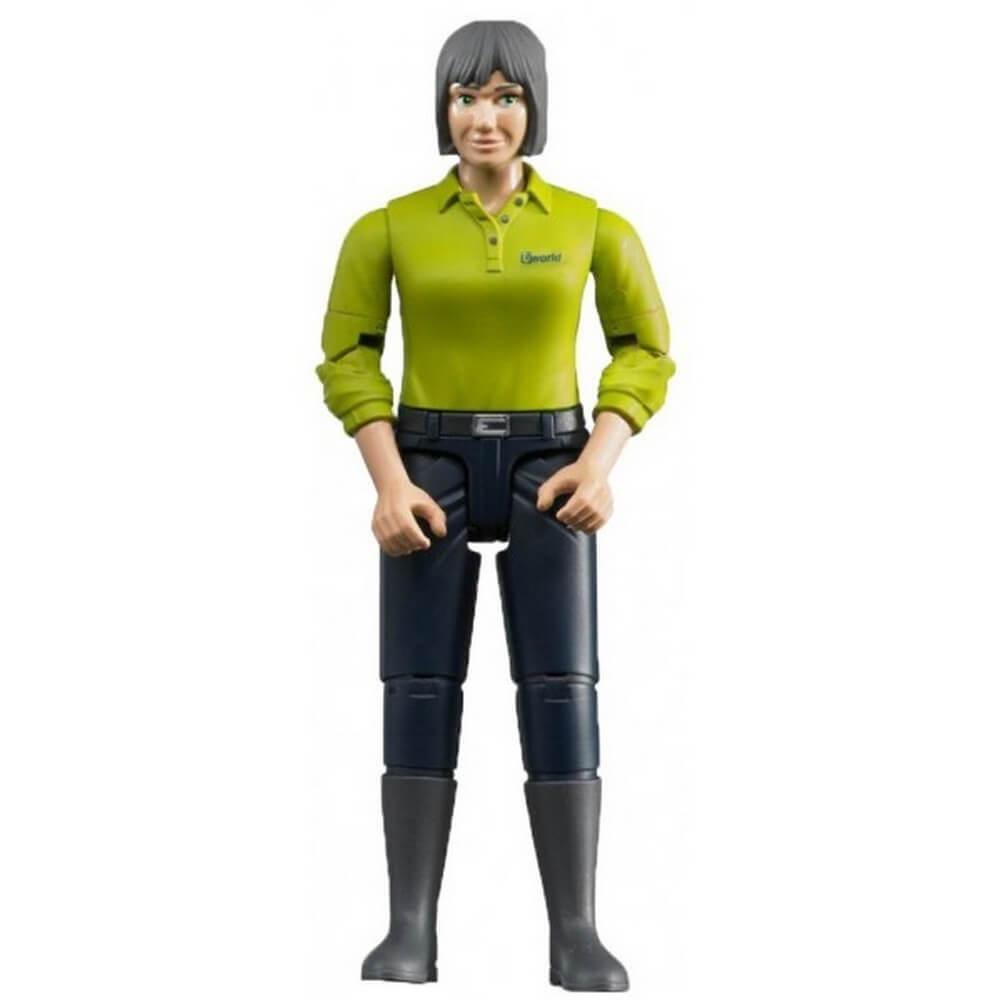 Femme brune avec jean bleu