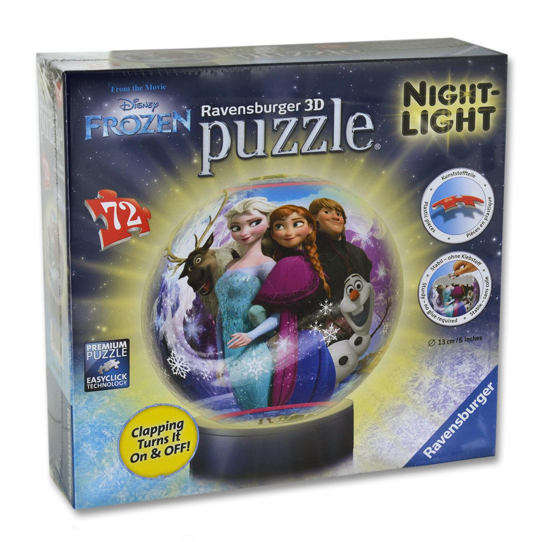Disney Frozen Reine Ravensburger 3d Puzzleball Nuit Lumière 72 pièces Puzzle