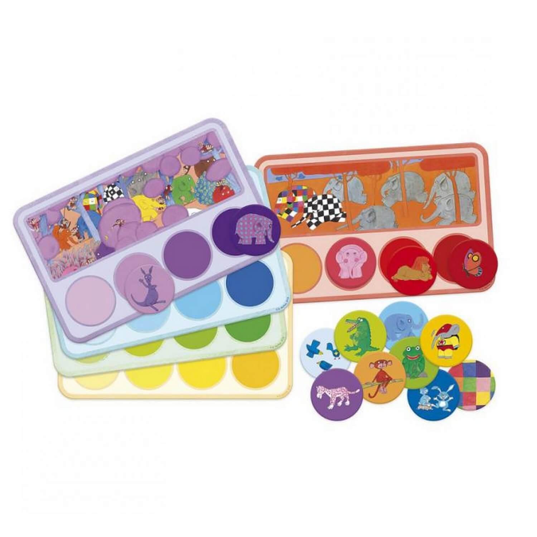 Loto-mémo des couleurs Elmer