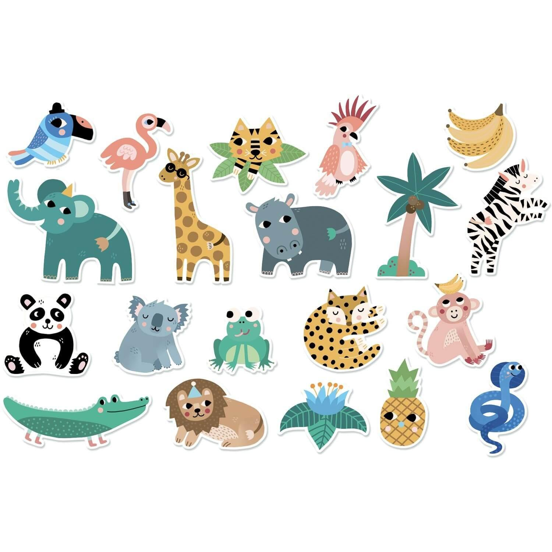Magnets Jungle illustrés par Michelle Carlslund