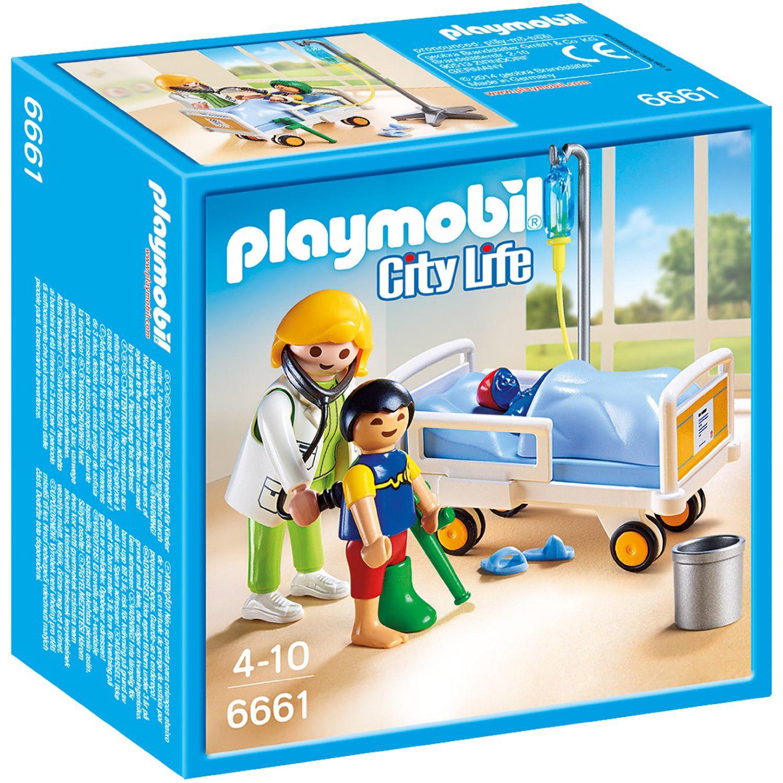 Playmobil 6661 : City Life : Chambre d\'enfant avec médecin - Jeux et ...