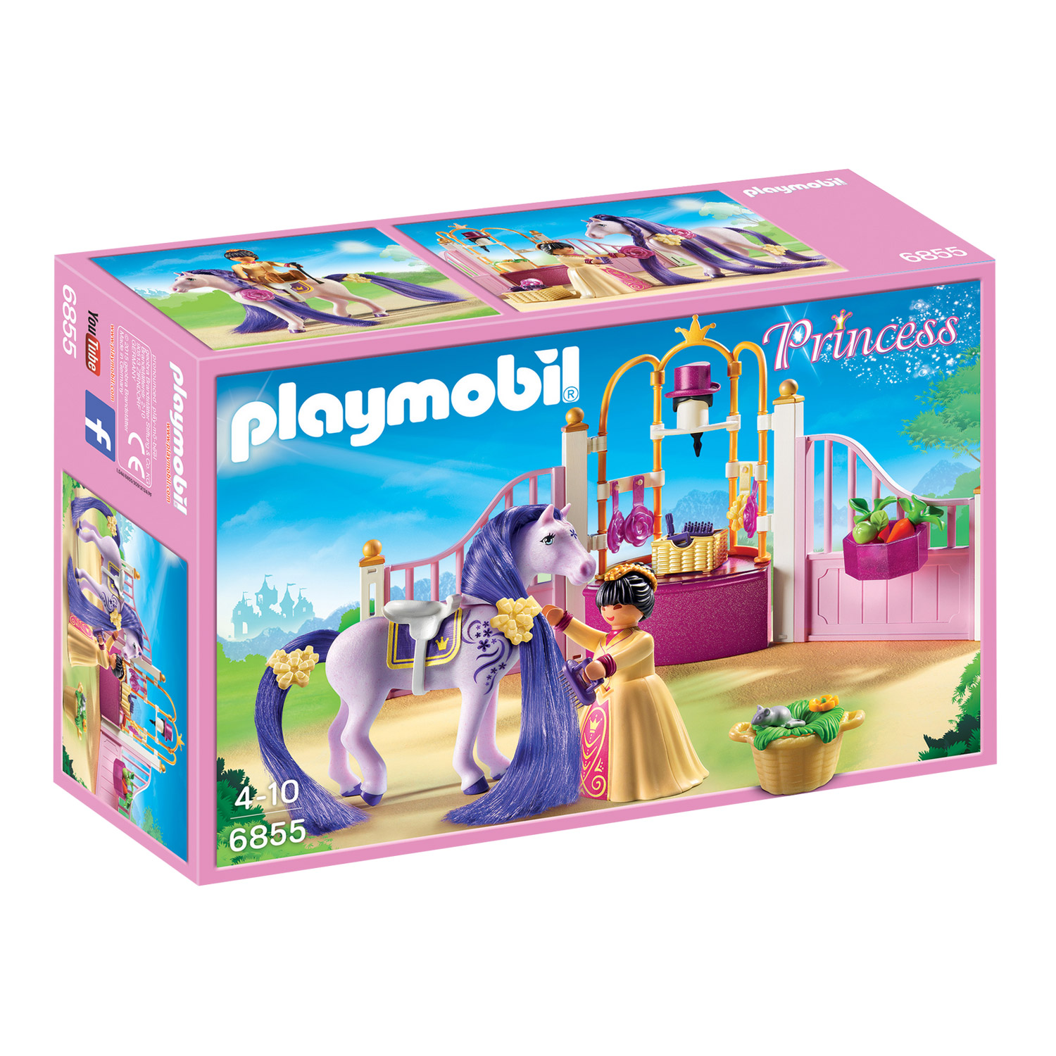 Grand Playmobil 6855 Princess : Ecurie Avec Cheval à Coiffer Et Princesse    Playmobil 6855