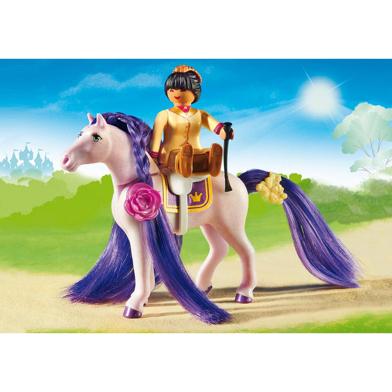 Playmobil 6855 Princess : Ecurie avec cheval à coiffer et princesse