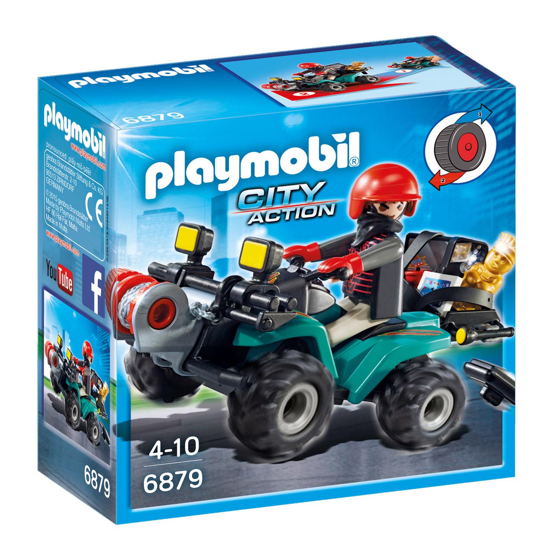 Playmobil 6879 City Action : Quad avec treuil et bandit