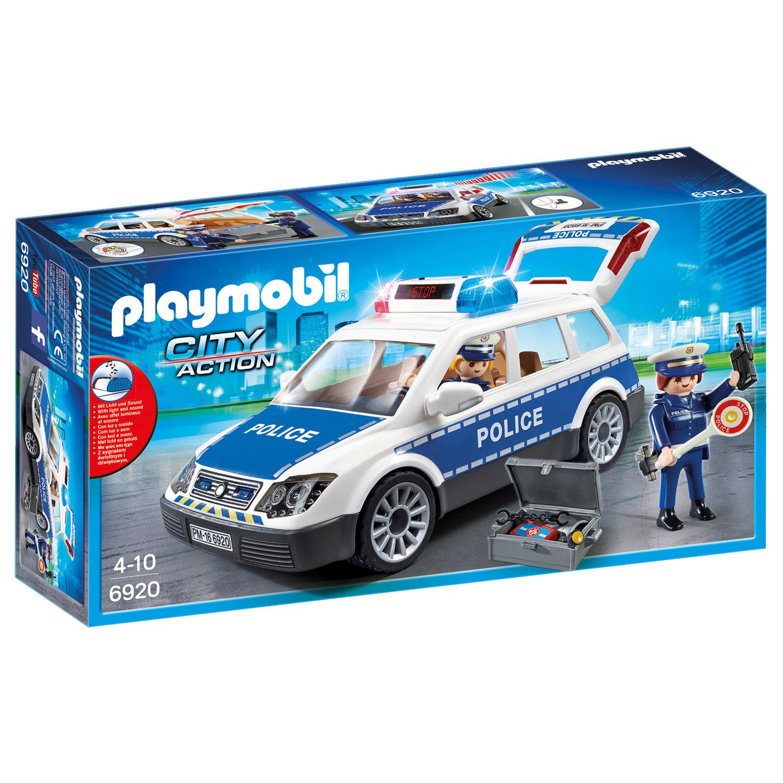 Playmobil 6920 City Action : Voiture de policiers avec gyrophare et sirène