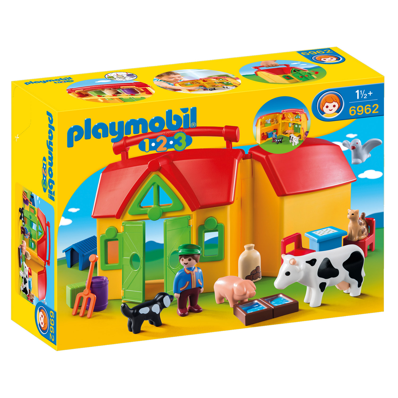 Playmobil 6962 1.2.3. : Ferme transportable avec animaux